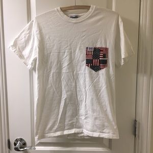 Fraternity Collection American Flag Pocket T-shirt